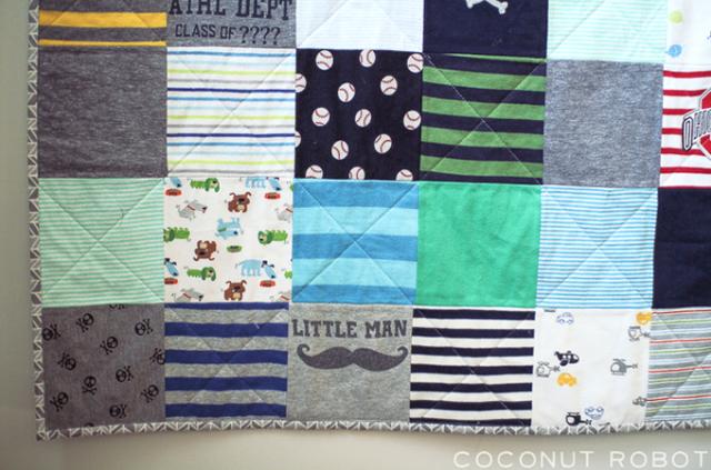 baby onesie quilt zelf maken On zelf quilt maken