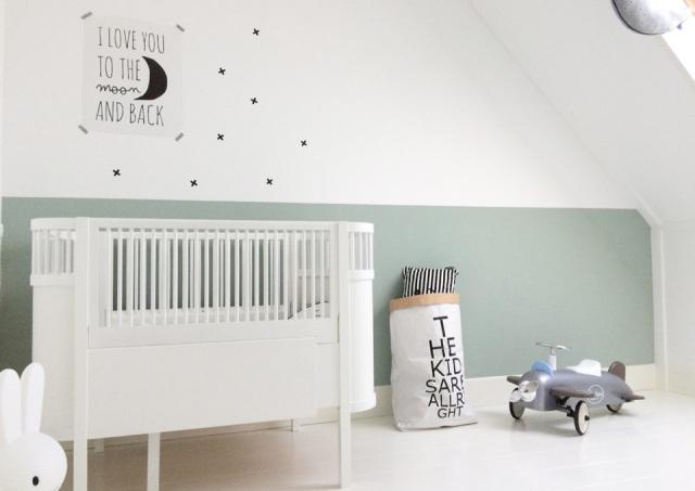 Babykamer Behang Groen : Babykamer kleuren de laatste trends minime