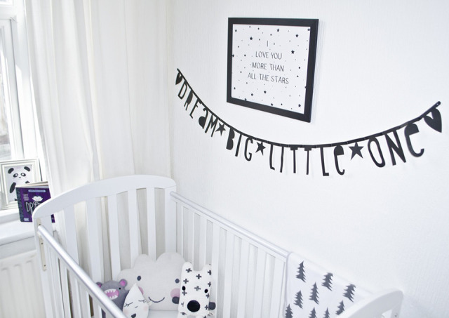 babykamer zwart wit - inspiratie voor zwart wit kinderkamers, Deco ideeën