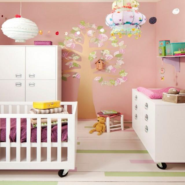 Roze babykamers inspiratie voor subtiele roze babykamer - Kleur van slaapkamer meisje ...