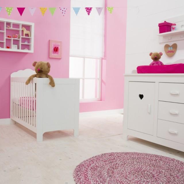 roze babykamers - inspiratie voor (subtiele) roze babykamer, Deco ideeën