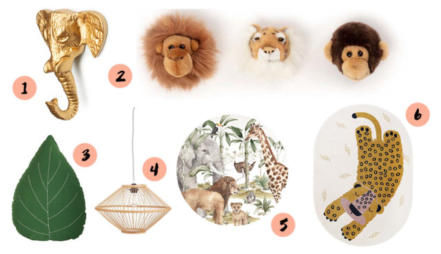 collage jungle babykamer