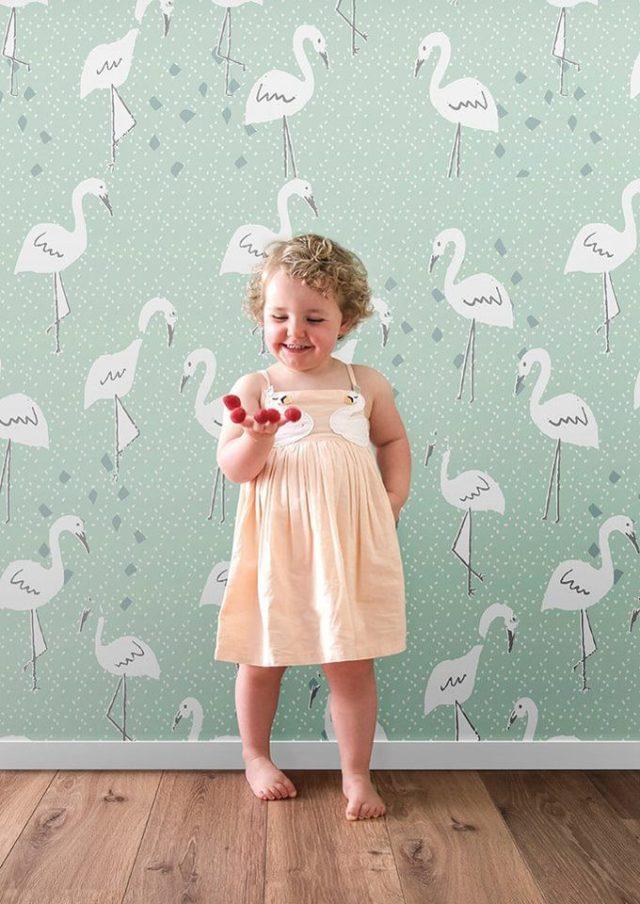 Baby Behang Mintgroen.Minime Loves Behang Voor Meisjeskamer Minime Nl