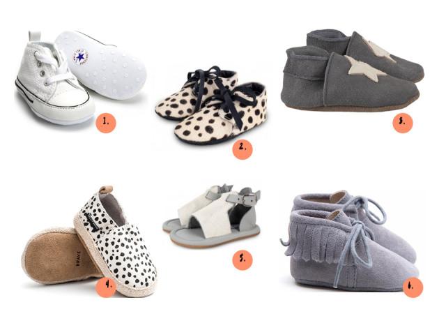 Babyschoenen eerste stapjes