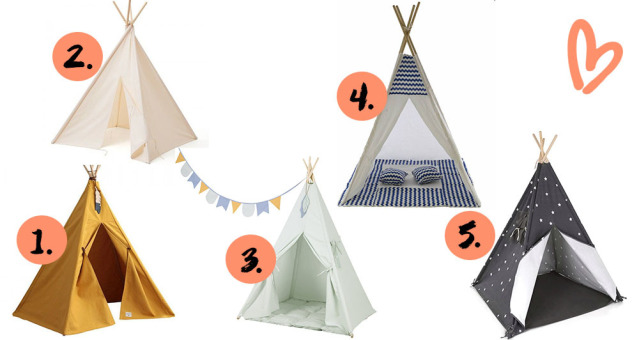 collage met tipi-tenten