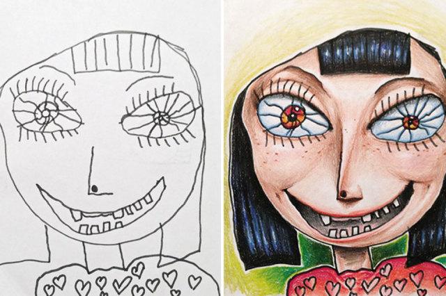 Vader Kleurt Tekeningen Van Kinderen In Minime Nl
