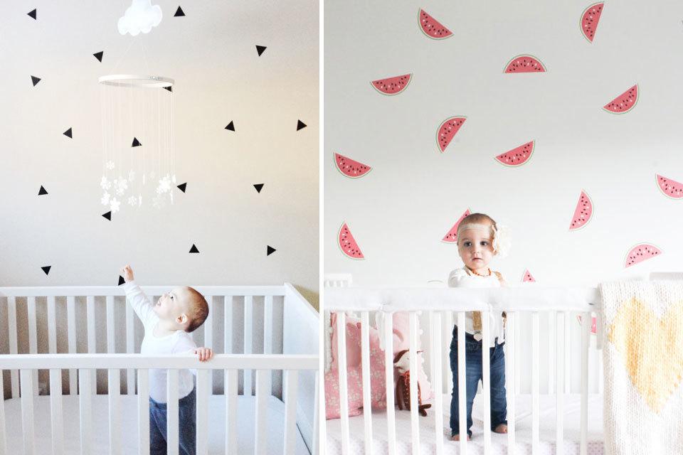 Behang Kinderkamer Roze : Behang babykamer meisje midnightmenace