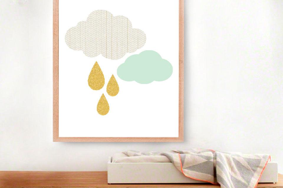 Babykamer Behang Groen : Mintgroen behang babykamer cheap babykamer tekening vintage
