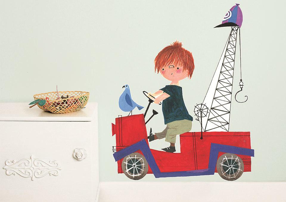 Behang Kinderkamer Groen : ... : Pluk van de Petteflet behang voor in ...