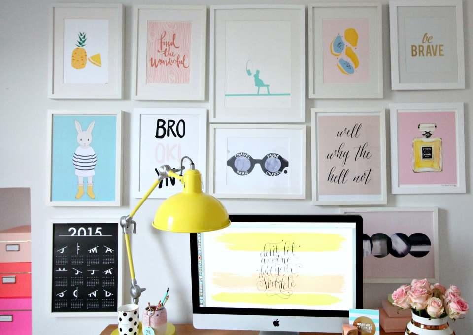 Leuk idee: een gallery wall in de kinderkamer