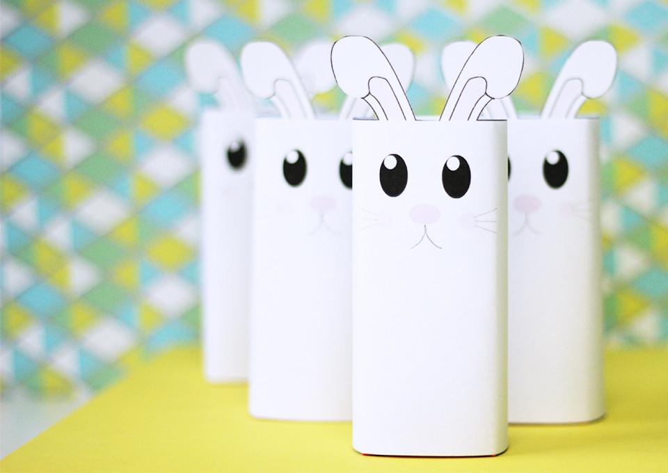 DIY: Gratis printable konijntje voor Pasen