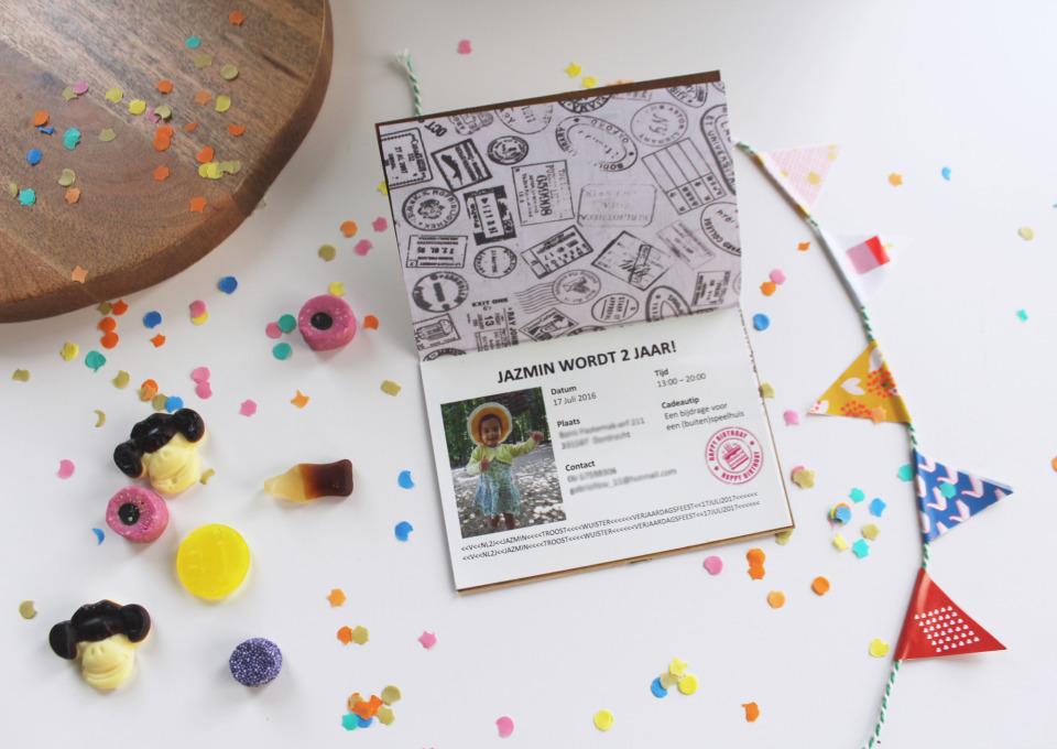 DIY: Paspoort uitnodiging kinderverjaardag