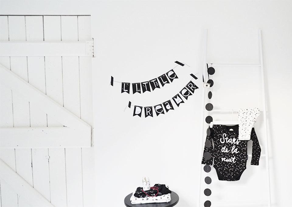 printable decoratie slinger voor in de babykamer | minime.nl, Deco ideeën