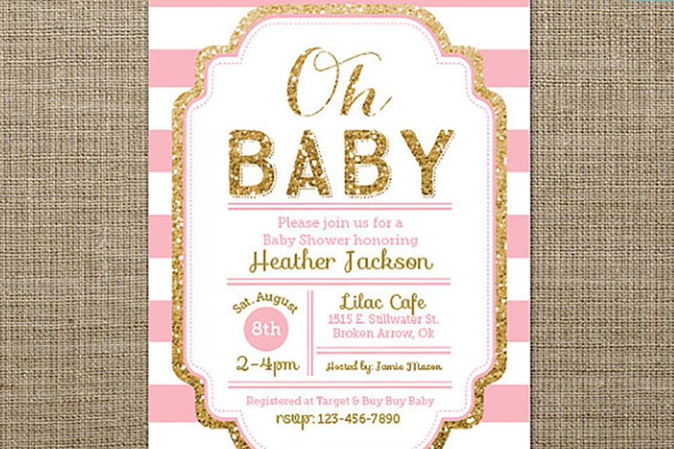 Babyshower uitnodigingen